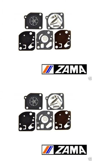 2 Pack Genuine Zama RB-48 Carburetor Repair Kit Fits C1U McCulloch Echo RB48
