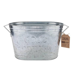 Country Home™ Cold Drinks Galvanized Metal Tub by Twine (Galvanized metal finish)