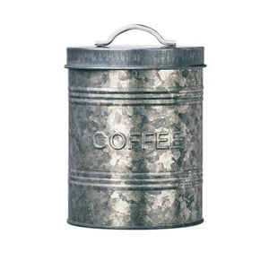Kitchen Galvanized Metal Canister - Coffee