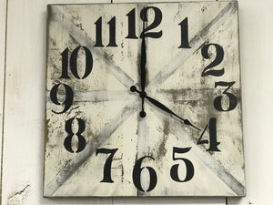 Clock - Square Wood Wall Clock