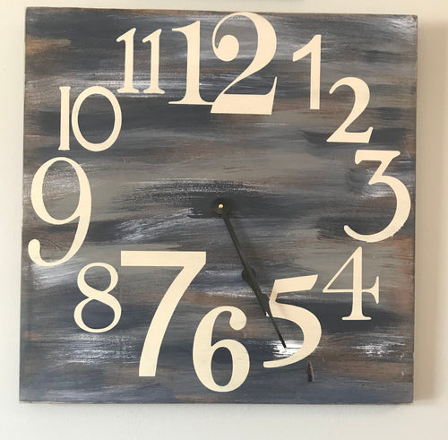 Oversized Wood Wall Clock - Farmhouse Clock
