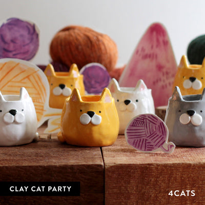4Cats Kids Clay Cat Party