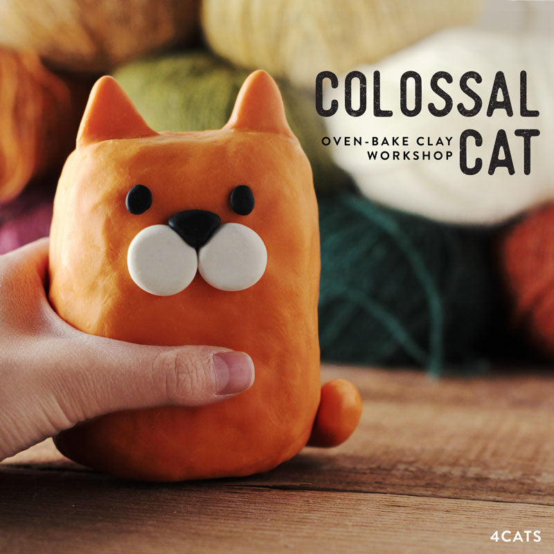 Colossal Cat—Oven-Bake Clay