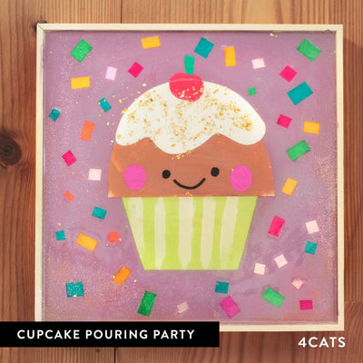 4Cats Kids Pouring Cupcake Party