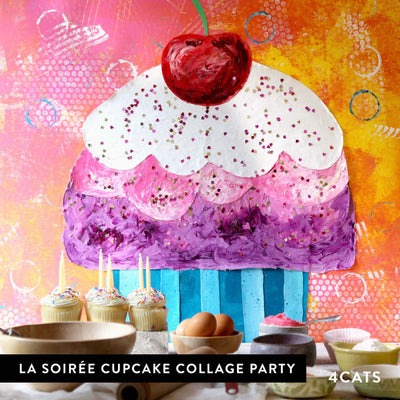 4Cats Kids La Soiree Cupcake Collage Party