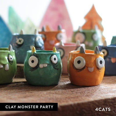 4Cats Kids Clay Monster Party