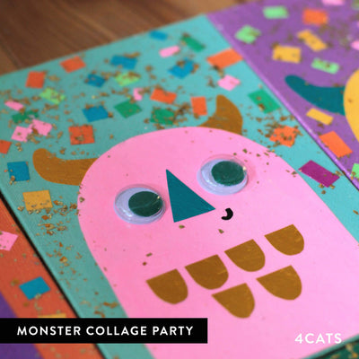 4Cats Kids Monster Collage Party