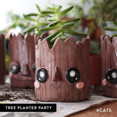 4Cats Kids Clay Tree Planter Party