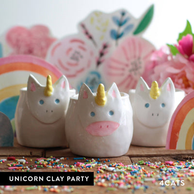 4Cats Kids Unicorn Clay Party