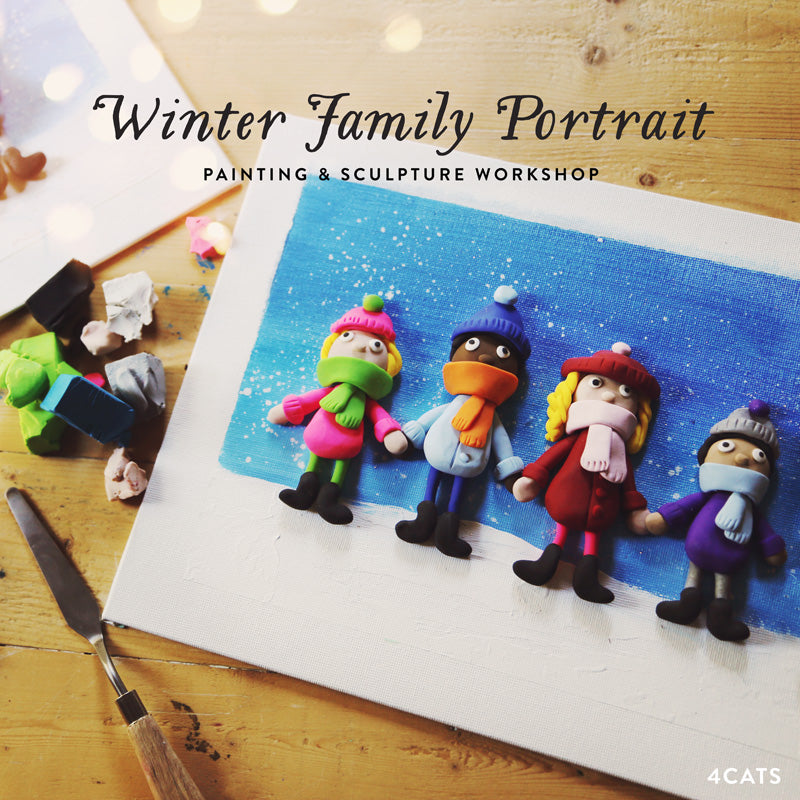 Winter Family Portrait—Oven-Bake Clay