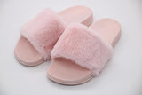Pink Fibbi Fur Slippers