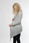 Long Viscose Cardigan - Lightgrey ✖ Urban Classics
