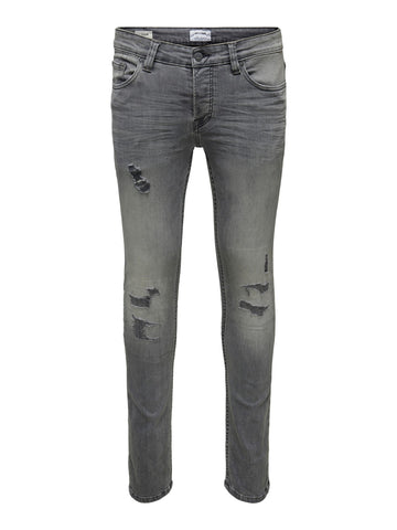 Performance Jeans grå slim fit