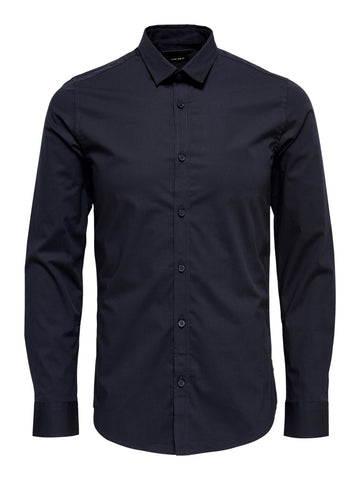Performance skjorte langærmet Dark navy