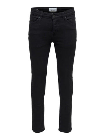 Performance Jeans Sort slim fit