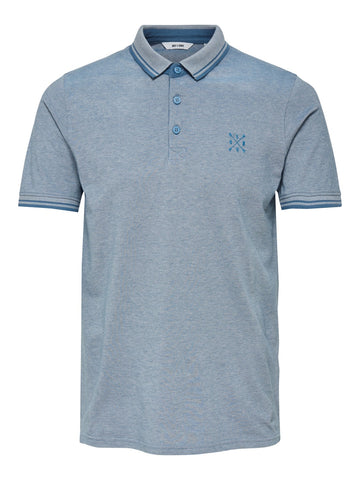Stan polo shirt glacier grey