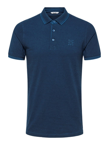 Stan polo shirt ensign blue