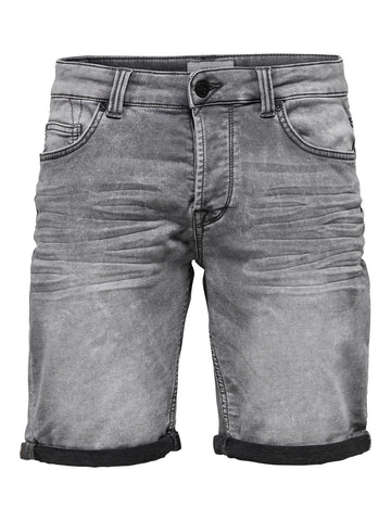 Performance Shorts Denim Grå
