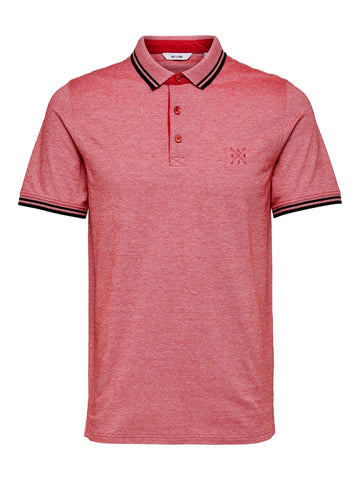 Stan polo shirt tango red