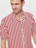 Wayne Striped Cranberry