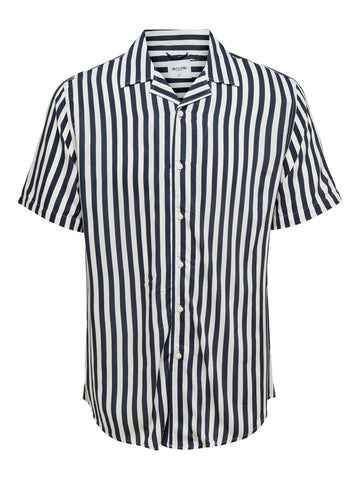 Wayne Striped Dress blues