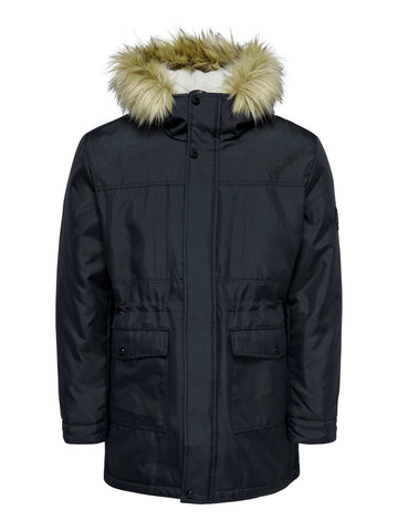 Basil Parka Jacket Dark Navy