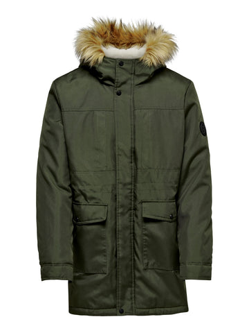 Basil Parka Jacket Forest Night