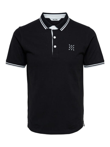 Stan polo shirt sort/hvid