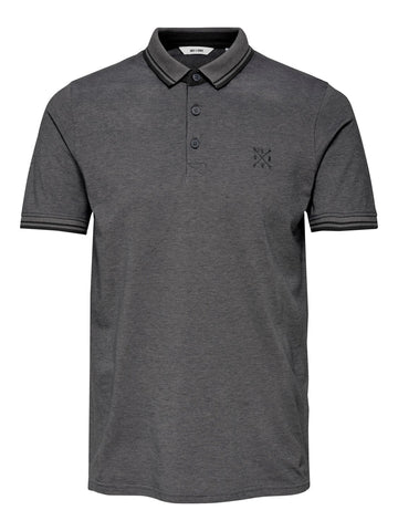 Stan polo shirt dark grey