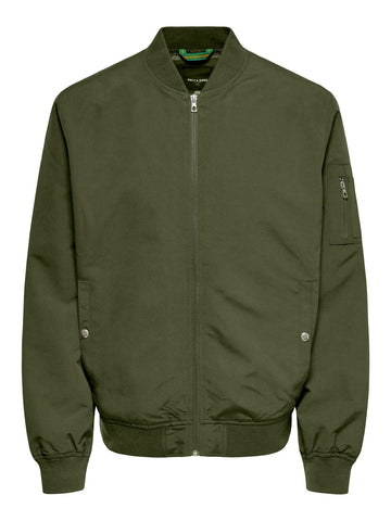 Bomber jakke olive night