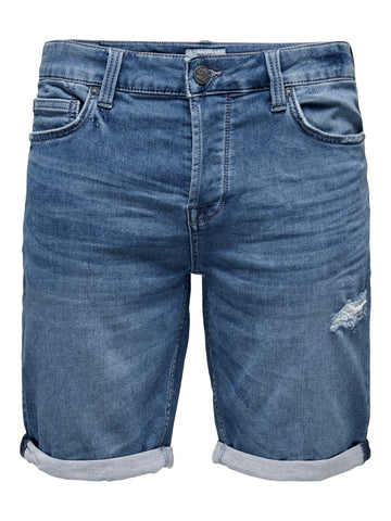 Performance Shorts blue denim