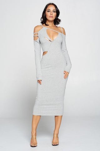 THE TORN MIDI DRESS