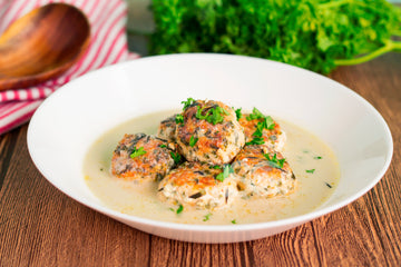 Salmon Balls in Coconut Broth
