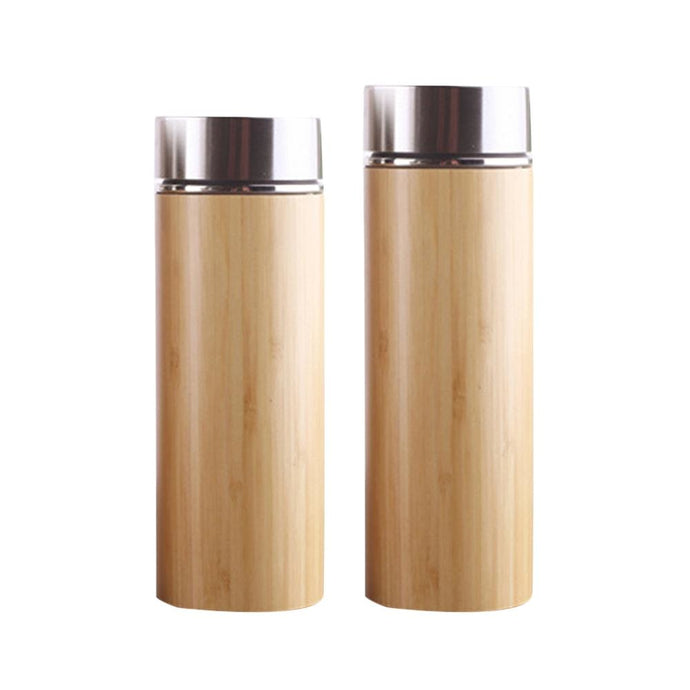 Natural Bamboo Stainless Steel Thermos Cup - LifeTap - - LifeTap