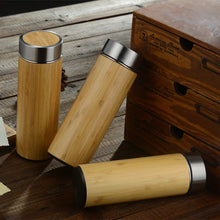 Load image into Gallery viewer, Natural Bamboo Stainless Steel Thermos Cup - LifeTap - - LifeTap