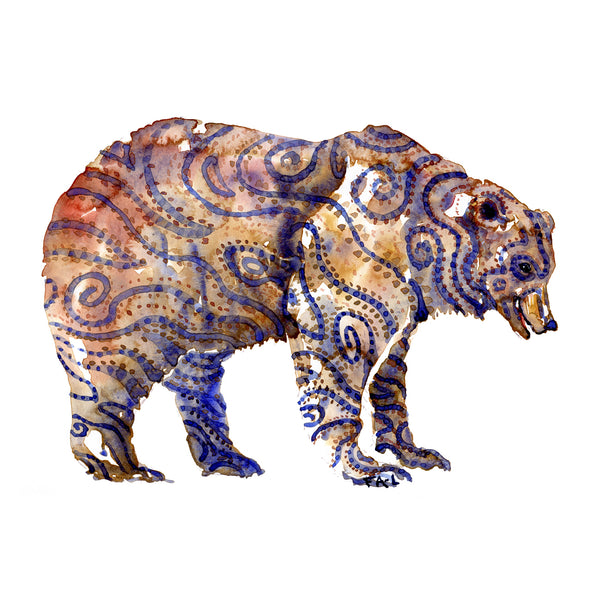 Original watercolors Tribal Animals