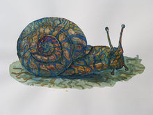 Load image into Gallery viewer, Original Tribal snail ground Watercolor