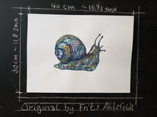 Load image into Gallery viewer, Original Tribal snail-1 Watercolor