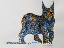 Load image into Gallery viewer, Original Tribal lynx Watercolor