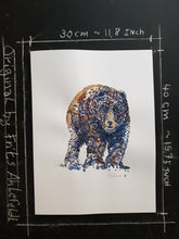 Load image into Gallery viewer, Original Tribal bear front Watercolor