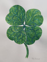 Load image into Gallery viewer, Original Tribal four leaf clover Watercolor