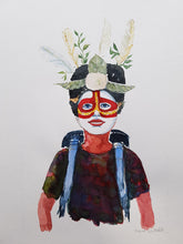 Load image into Gallery viewer, Original Nature hiker white face Watercolor