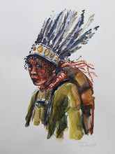 Load image into Gallery viewer, Original Nature hiker feather headwear Watercolor