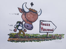 Load image into Gallery viewer, Original Bull anger management illustration