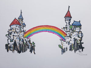 Original Rainbow bridge castle illustration