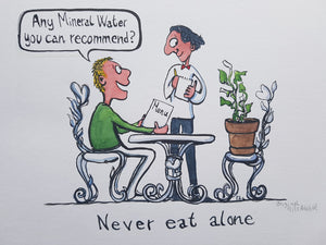 Original mineral water plant dinner illustration