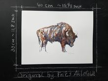 Load image into Gallery viewer, Original European Bison watercolor