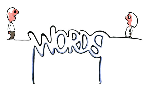 Words as brige illustration by Frits Ahlefeldt