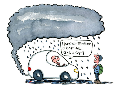 Download Cars and climate change illustration
