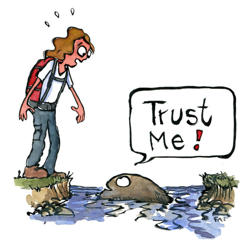Trust me I am a stone illustration by Frits Ahlefeldt